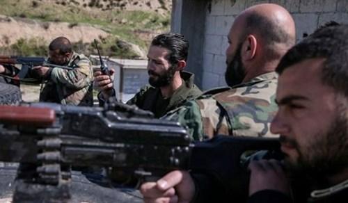 Các binh sỹ Syria trên chiến trường