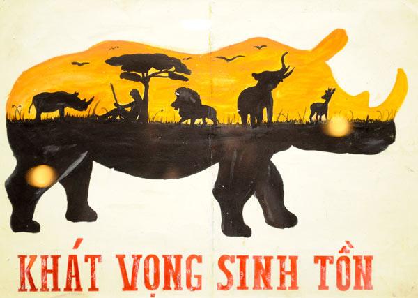 Tác phẩm Khát vọng sinh tồn của Phạm Khoa Vy, 17 tuổi ở Quảng Ngãi. Ảnh: Tiin