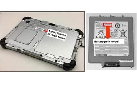 Pin đi kèm với dòng máy tính Panasonic Toughpad Fz - G1