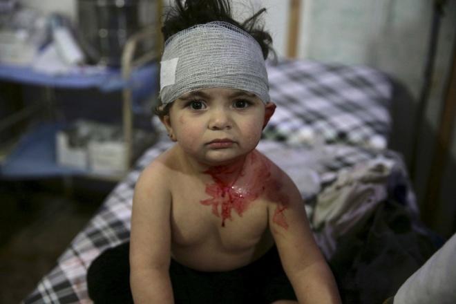 8,4 triệu trẻ em, tức hơn 80% trẻ em Syria bị ảnh hưởng bởi chiến tranh, theo Quỹ Nhi đồng Liên Hiệp Quốc (UNICEF). Ảnh: Reuters