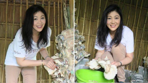 hình ảnh rất đời thường của cựu Thủ tướng Thái Lan Yingluck Shinawatra