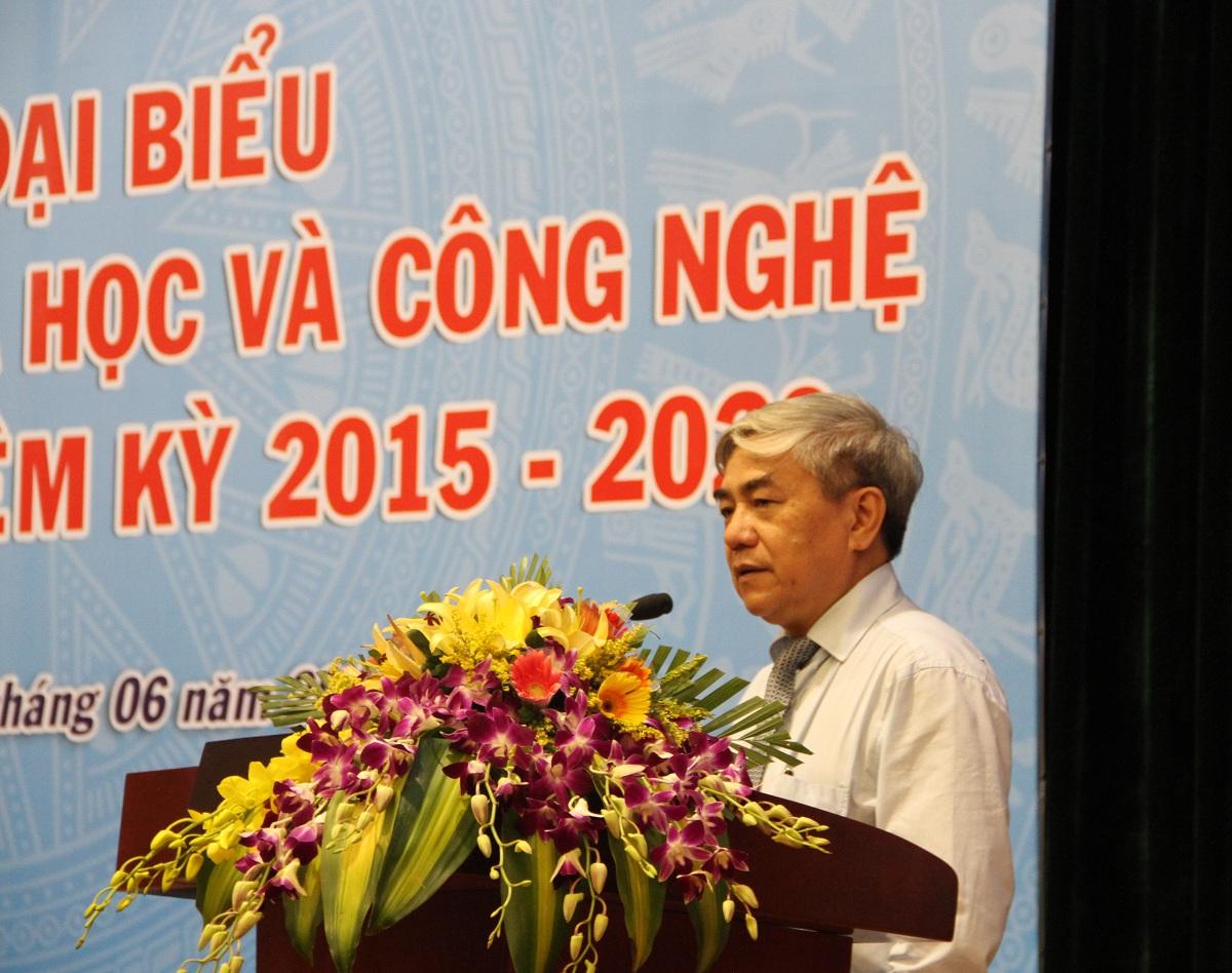 Bộ trưởng Bộ KH&CN Nguyễn Quân đánh giá cao những nỗ lực của Công đoàn Bộ trong thời gian qua, góp phần vào sự thành công chung của ngành