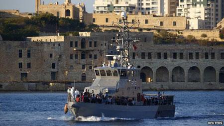 Đắm tàu ở Malta khiến 500 người chết