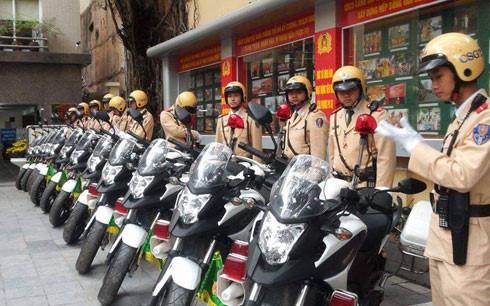 Công an thành phố Hà Nội đã huy động 100% quân số ứng trực trong thời gian diễn ra Đại hội Đảng