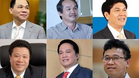 Tỷ phú Phạm Nhật Vượng vẫn dẫn đầu danh sách những người giàu nhất Việt Nam 2014