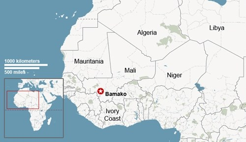 Khủng bố bắt cóc 170 con tin, đấu súng dữ dội với cảnh sát ở Mali