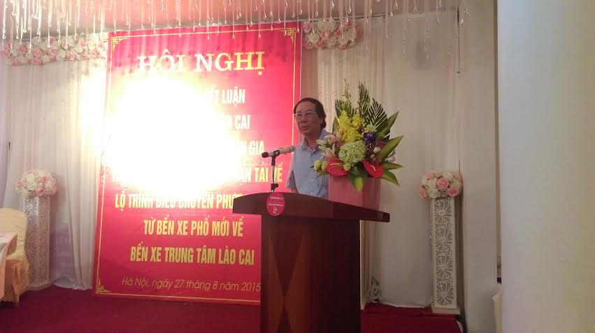 Ông Nguyễn Văn Thạo - Phó Giám đốc Sở GTVT Lào Cai
