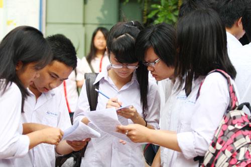Điểm thi ĐH của ĐH Quốc gia Hà Nội
