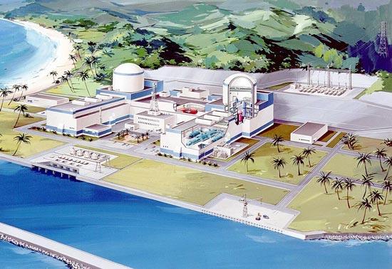 Hình ảnh mô hình nhà máy điện hạt nhân Ninh Thuận 1