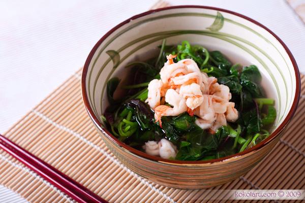 canh rau dền tôm thịt được xem là món ăn hoàn hảo cho mẹ bầu