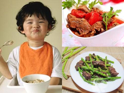 Thịt bò cung cấp kẽm và selen giúp bé tránh tình trạng biếng ăn