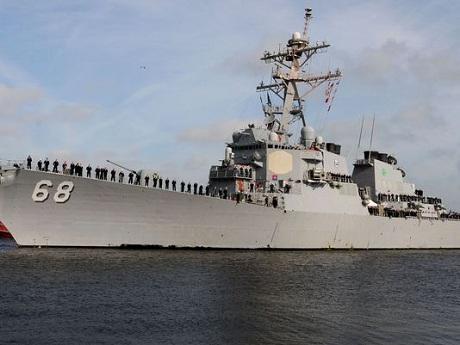 Vũ khí quân sự tên lửa phát nổ ngay khi bắn khỏi tàu khu trục ở Mỹ