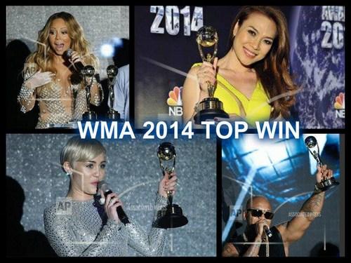 Mỹ Tâm sánh vai với các danh ca quốc tế lên nhận giải thưởng.