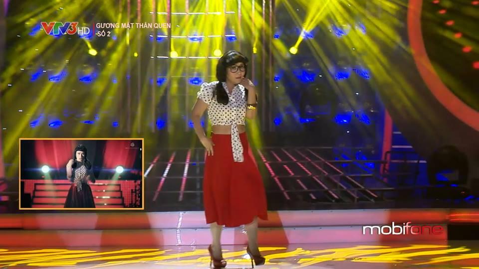 Vượt qua 5 tiết mục biểu diễn khác, diễn viên Ngân Quỳnh với màn hóa thân thành ca sĩ Mỹ Tâm xuất sắc giành số điểm cao nhất trong liveshow 2