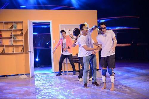 Minh Châu đã mang đến sự phấn khích và những tràng cười sảng khoái cho ban giám khảo lẫn khán giả