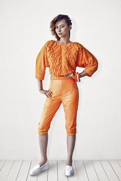 Người mẫu Kim Thoa trong mẫu thiết kế của NTK Minh Công