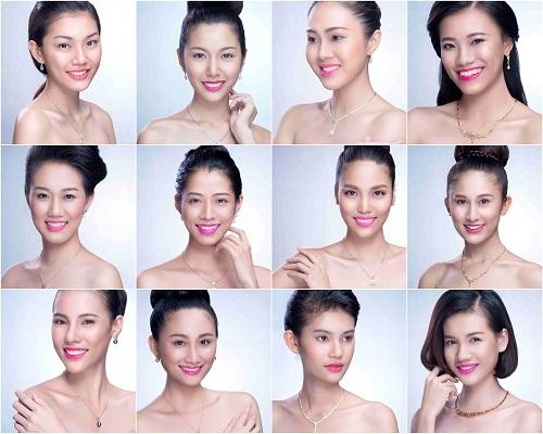 Cận cảnh nhan sắc 12 ứng viên đại diện Việt Nam tham gia Miss World, Miss International năm 2015