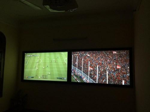 Tưởng thuật World Cup trên màn hình 100inch tại VPes