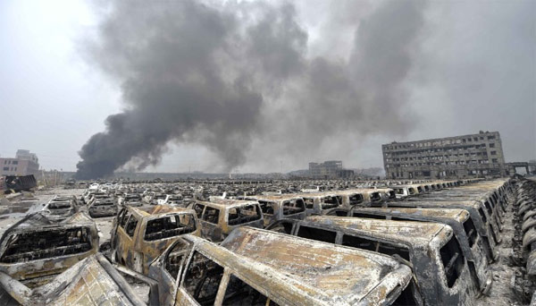 Vụ nổ Thiên Tân để lại gánh nặng kinh tế nặng nề cho Trung Quốc
