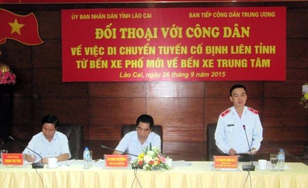 Buổi đối thoại của UBND tỉnh Lào Cai với doanh nghiệp vận tải hôm 26/9