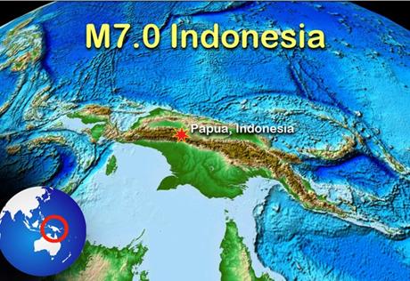 Trận động đất mạnh 7 độ richter đã làm rung chuyển tỉnh Papua của Indonesia