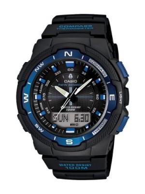 Mẫu đồng hồ thể thao Casio có khả năng định hướng và xác định thời gian mặt trời lặn, mọc