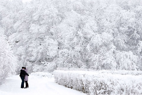 Đồng thời với đồng rúp mất giá, người Trung Quốc tranh thủ tận hưởng mùa đông trắng ở Nga và đi mua sắm tại đây