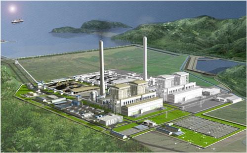 Phối cảnh Trung tâm Điện lực Quảng Trạch