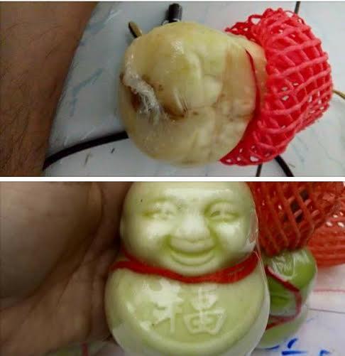 Một người bán đã chụp lại quả dưa lê Thần tài Trung Quốc bốc mùi hôi thối dù mới để được 3 ngày