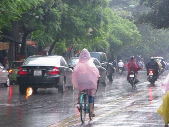 Tây Nguyên và Nam bộ đang nằm trong vùng ảnh hưởng của tác nhân gây mưa mới