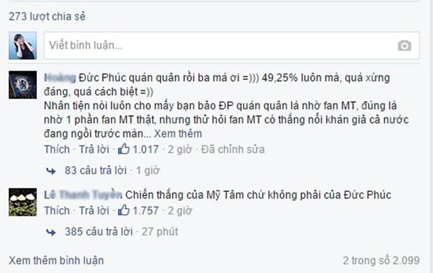 Trên fanpage Giọng hát Việt 2015 nổ ra 'khẩu chiến' sau khi Đức Phúc giành Quán quân Giọng hát Việt 2015