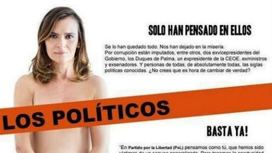 Gần đây, một nữ chính khách Tây Ban Nha cũng cùng chung ý tưởng với Goto khi sử dụng 'ảnh nóng' để thu hút cử tri