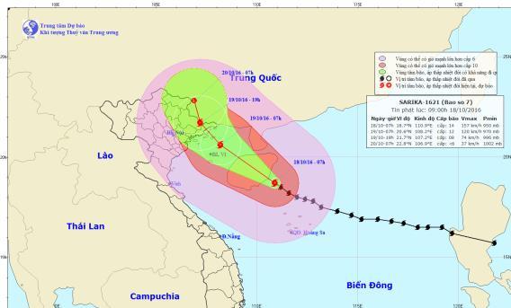 Tin bão số 7: tin tức mới nhất về cơn bão số 7 Sarika