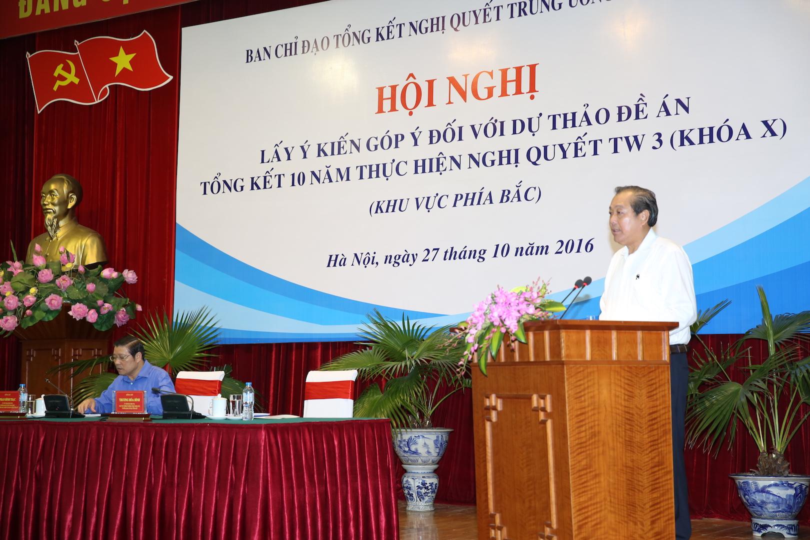 Phó Thủ tướng Thường trực Trương Hòa Bình phát biểu chỉ đạo tại hội nghị. Ảnh: VGP