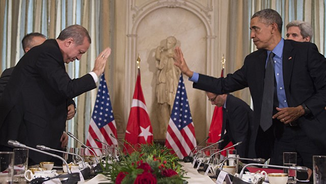 Chiến sự Syria:Tổng thống Thổ Nhĩ Kỳ Erdogan và Tổng thống Mỹ Obama
