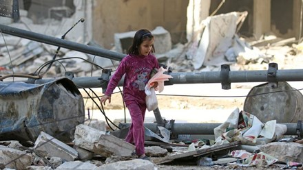 Chiến sự Syria: Một khu phố Aleppo sau đợt dội bom ngày 17/11/2016