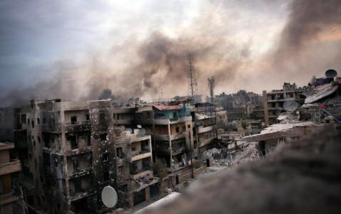 Chiến sự Syria: Giao tranh tại Syria đã khiến nhiều khu vực đông dân cư bị tàn phá nặng nề. Ảnh: Reuters