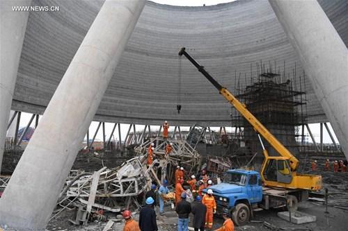 Vụ tai nạn xảy ra vào lúc 7h sáng 24/11 (giờ địa phương) tại một nhà máy điện thuộc tỉnh Giang Tây (Trung Quốc). Ảnh: Tân Hoa Xã