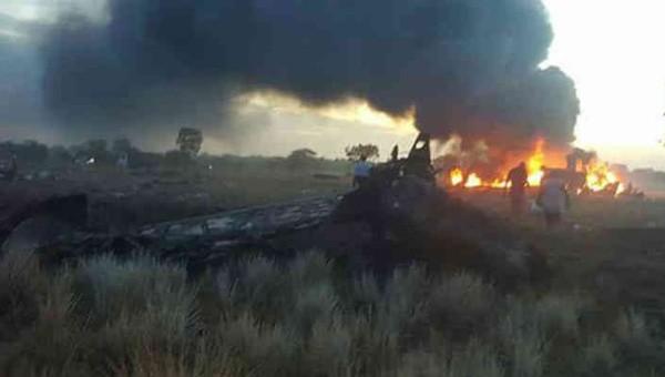 Hiện trường vụ tai nạn máy bay ở Colombia