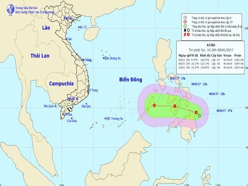 Dự báo thời tiết: Xuất hiện áp thấp nhiệt đới gần biển Đông