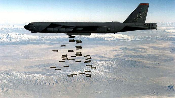 Chiến sự Syria: Máy bay B-52 của không quân Mỹ. Ảnh: AFP