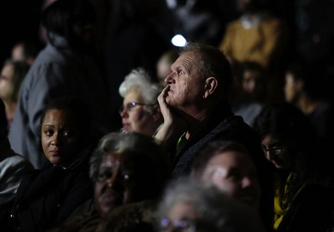Quang cảnh buổi lễ chia tay Tổng thống Obama tại Chicago ngày 10/1. Ảnh: AFP, Reuters