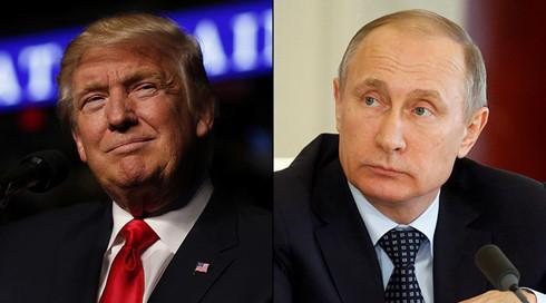 Tổng thống đắc cử Mỹ Donald Trump (trái) và Tổng thống Nga Putin.