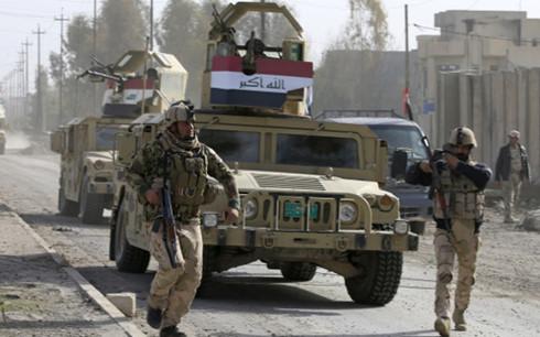 Chiến sự Syria: Lực lượng Iraq làm nhiệm vụ ở Mosul. Ảnh: Reuters