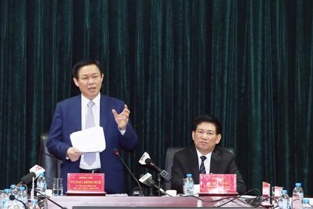 Phó Thủ tướng Vương Đình Huệ phát biểu tại cuộc họp chuyên đề của Kiểm toán Nhà nước. Ảnh: VGP