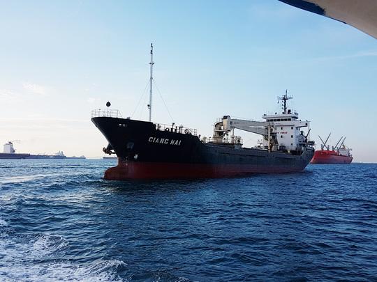 Tàu Giang Hải trước khi bị cướp biển tấn công.