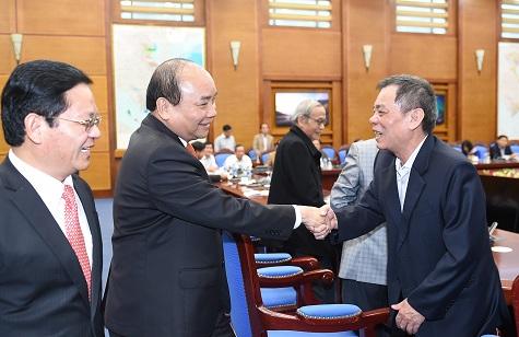 Thủ tướng Nguyễn Xuân Phúc tại buổi gặp mặt. Ảnh: VGP