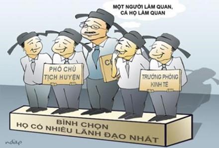 Thủ tướng Chính phủ yêu cầu kỷ luật cán bộ bổ nhiệm người nhà. Ảnh: Lao Động