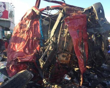 Hiện trường vụ tai nạn ở Gia Lai. Ảnh: Công lý