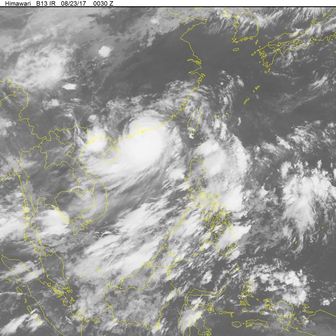 Từ chiều nay, bão số 6 sẽ gây ảnh hướng đến vùng biển phía Bắc nước ta. Ảnh: TTDBKTTVTW